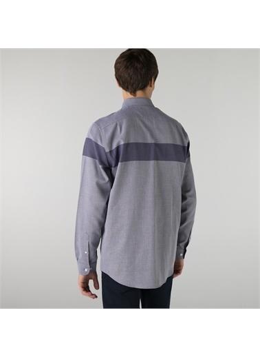 Lacoste Lacoste Erkek Regular Fit Renk Bloklu Lacivert Gömlek Lacivert